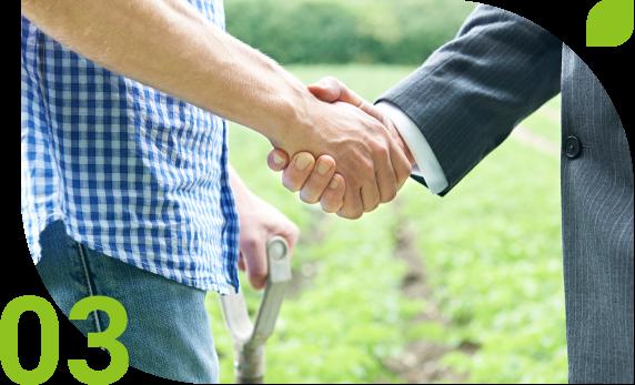 農業ビジネスへの参入支援